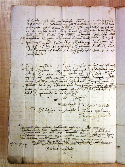 Photo: Illustrative image for the 'Will of Roger Davies 1580' page