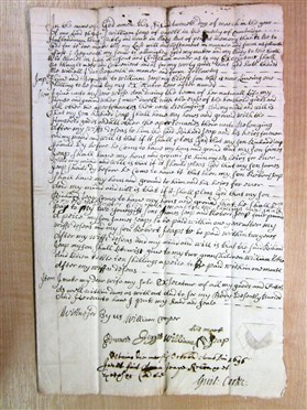 Photo: Illustrative image for the 'Will of William Jeape 1694' page