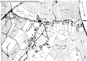 Photo:Orwell in 1836 - showing the Open Field strips and old enclosures