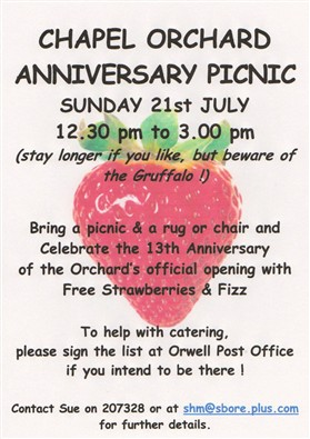 Photo: Illustrative image for the 'CHAPEL ORCHARD ANNIVERSARY PICNIC' page