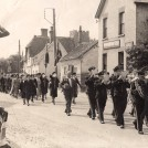 Photo:British Legion parade outside the White Hart 1940. Note the Old Post Office is still thatched.