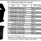 Page link: BIN COLLECTION DATES 2019