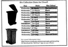 Photo:NB Green Bin collections suspended from March 23rd.