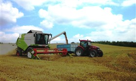 Photo:Harvesting wheat on Lilac Farm. August 2012