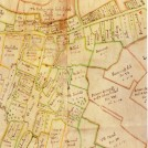 Photo:Orwell in1686, from a map drawn for Sir Thomas Chicheley, Lord of Orwell manor
