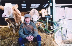 Photo:Clifford Breed and his cows