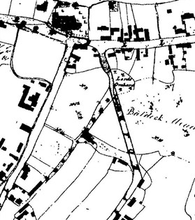 Photo:Detail from the Enclosure map of 1836, showing a direct link from Back Street to High Street