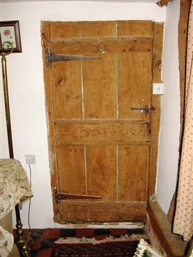Photo:The traditional three-plank door, found in many Orwell cottages.