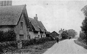 Photo:Fishers Lane in the 1930s. No 5 is in the centre of the picture