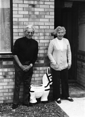 Photo:Maurice and Betty outside their Lordship home