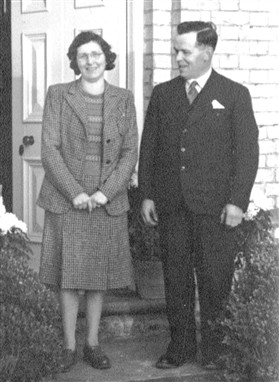 Photo:Henry & Mabel Parcell at Meadowcroft Farm