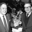 Photo:Gerry Arnold & Kingsley LLoyd, past Presidents of the Society at its 1986 dinner