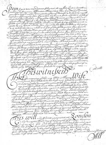 Photo: Illustrative image for the 'Will of John Godfrey the Elder 1658' page