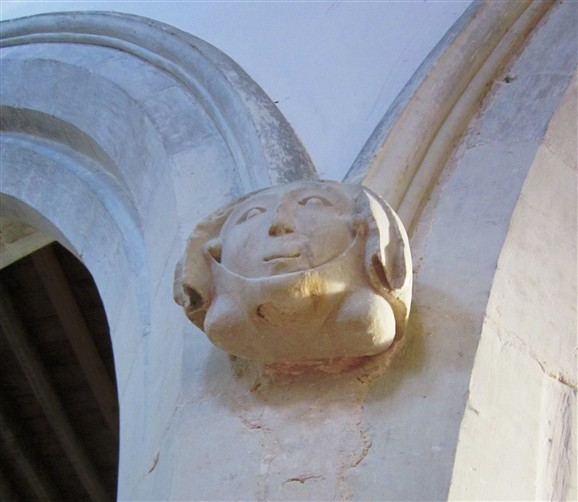 Photo:14th century Headstop on a South aisle pillar, used as Logo for this website