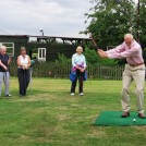 Photo:Roger Daw tees off at WI Golf Evening, Whaddon, July 2009