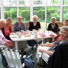 Photo:Cream tea at Nancy Skipper's house, June 2010