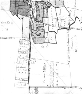 Photo:Leaden Hill shown as No.2 Private Road on the 1837 Enclosure map