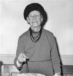 Photo:Sarah Giddings at her 90th Birthday party in 1972