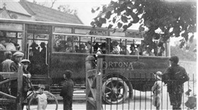 Photo:Ortona Bus on the corner of Town Green Road, taking Orwell WI on its first outing
