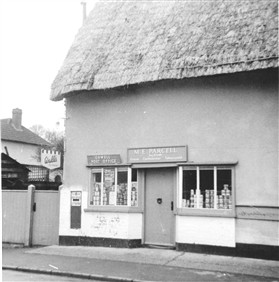 Photo:Parcell's shop and Post office 1960