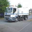 Photo:A road sweeper keeps the streets clean.