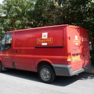 Photo:The Royal Mail deliver post.