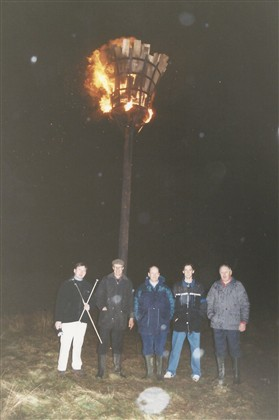 Photo:Midnight - and the Beacon blazes