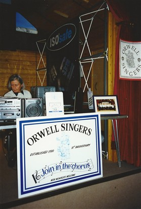 Photo:The Orwell Singers stand; the Singers performed on Sunday lunchtime.