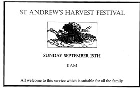 Photo: Illustrative image for the 'ST ANDREW'S CHURCH HARVEST FESTIVAL' page