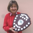 Photo:Present Editor Sue Miller with Community Magazine trophy 2008