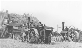 Photo:Steam threshing at Malton Farm, 1950