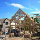 Photo:Timber frame by Westwindoak in the new house at No. 50 High Street.