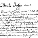 Page link: Will of John Beale 1735