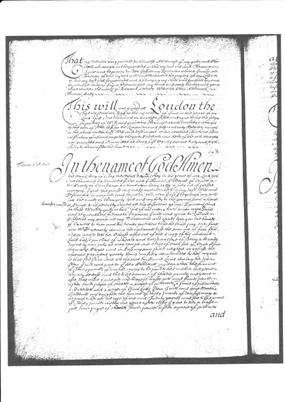 Photo: Illustrative image for the 'Will of Thomas Caldecutt 1659' page