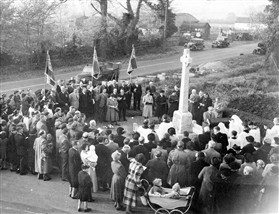 Photo:Re-dedication of the war memorial in 1947