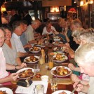 Photo:Dinner at The Pheasant, Chrishall, after a farm visit