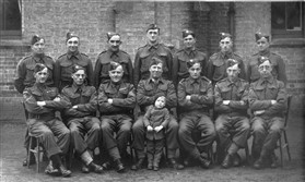 Photo:Orwell Home Guard. Maurice is 2nd from left, front row