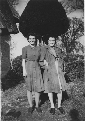 Photo:Marie (left) and friend Ivy in 1944
