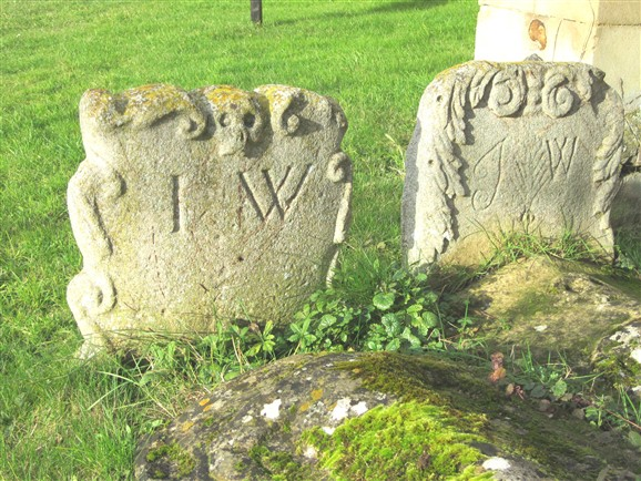 Photo:Wootton family graves 1682.