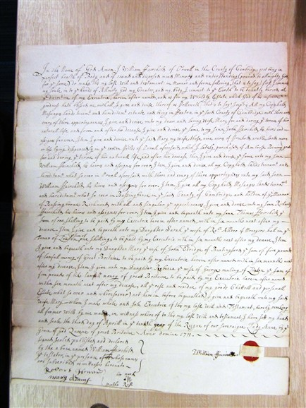 Photo: Illustrative image for the 'Will of William Fairchild  1711' page